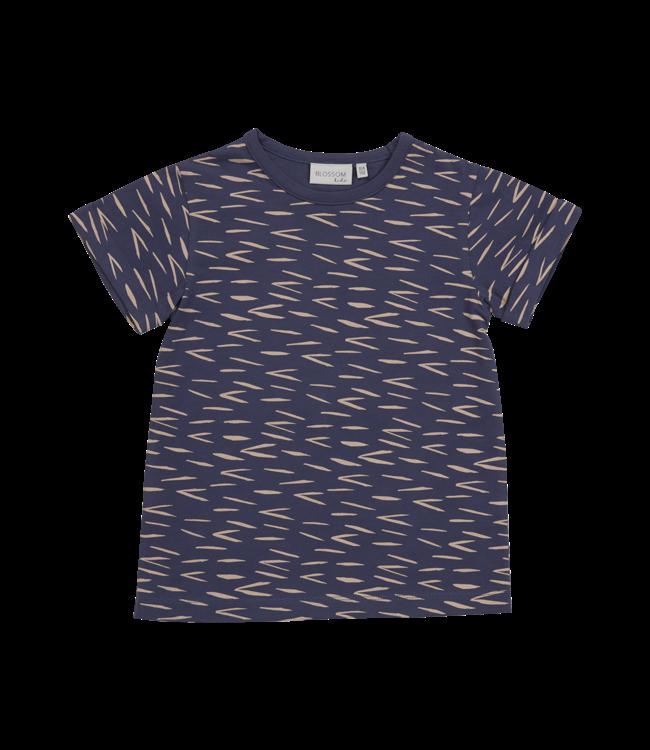 Blossom Kids Tshirt zigzag Royal blue