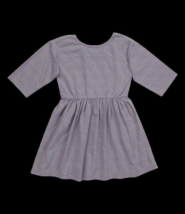 Blossom Kids Dress half sleeve Shelves Lavender grey