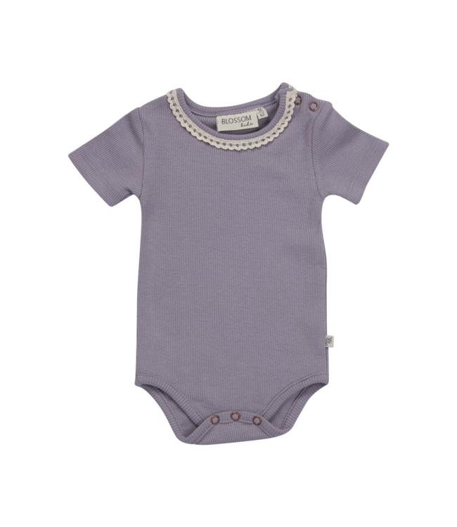 Blossom Kids Body short sleeve Lace lavender grey