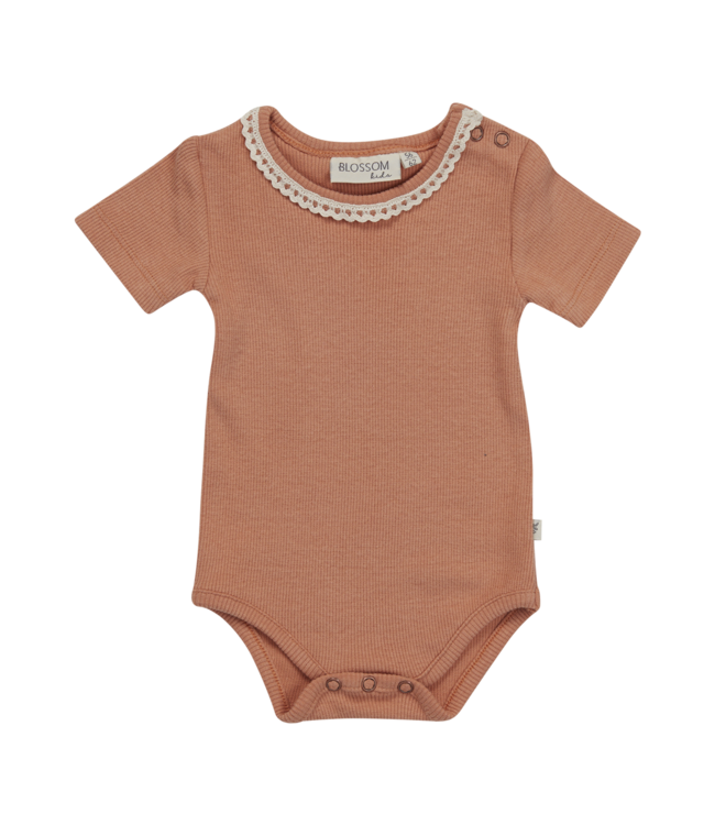 Blossom Kids Body short sleeve Lace Deep toffee