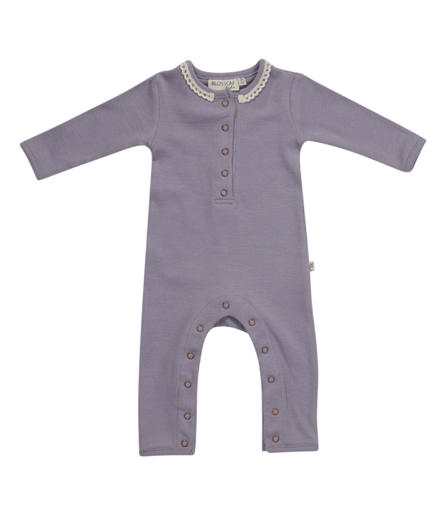 Blossom Kids Playsuit Lavender grey with Lace