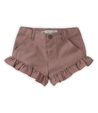 Sproet & Sprout Short Ruffle Mini Check Rose