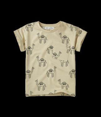 Sproet & Sprout T-shirt Print Camel Sesam