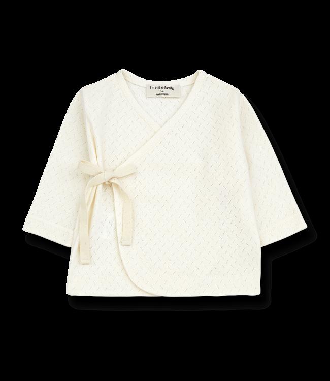 1 + in the family Annie newborn shirt Ecru