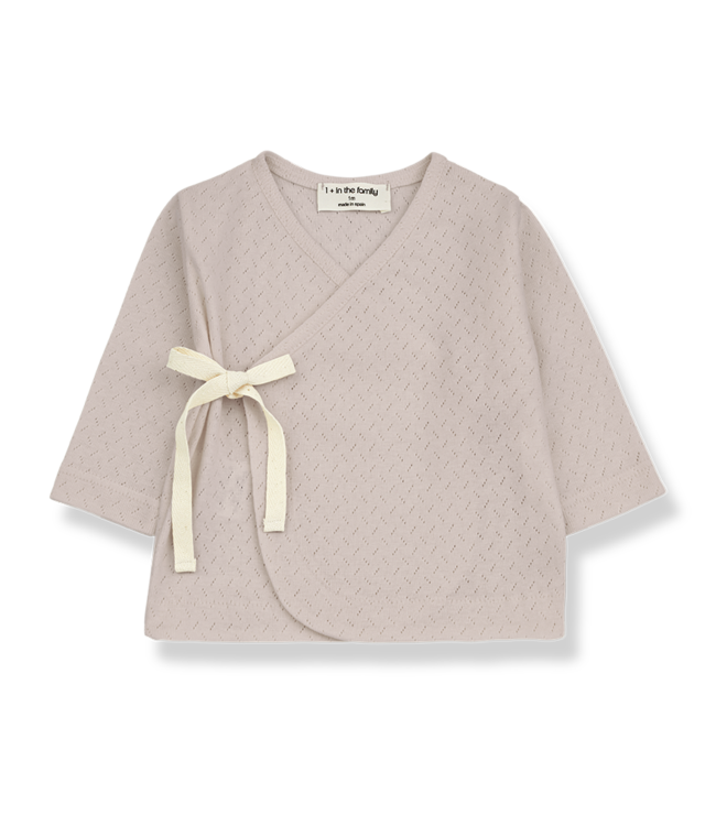 1 + in the family Annie newborn shirt Nude