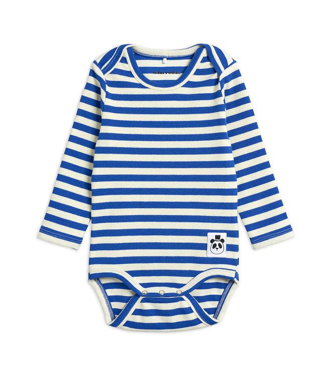 Mini Rodini Stripe rib body Blue