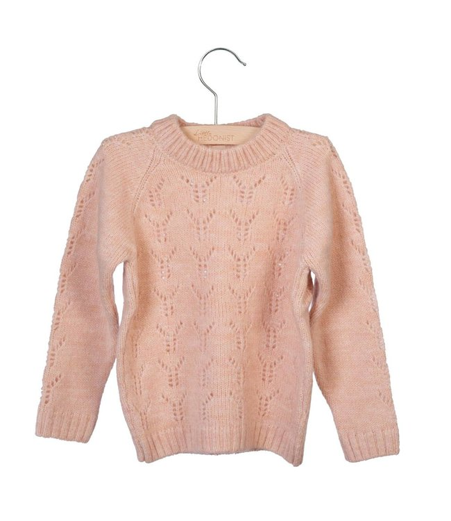 Little Hedonist Lesha Knitted Sweater Cameo Rose