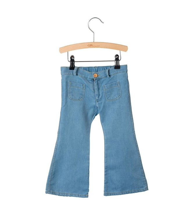 Little Hedonist Bay 4 pocket flared pants Denim