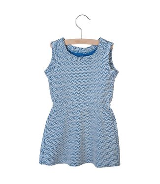 Little Hedonist Judy sleeveless dress Jacquardblue
