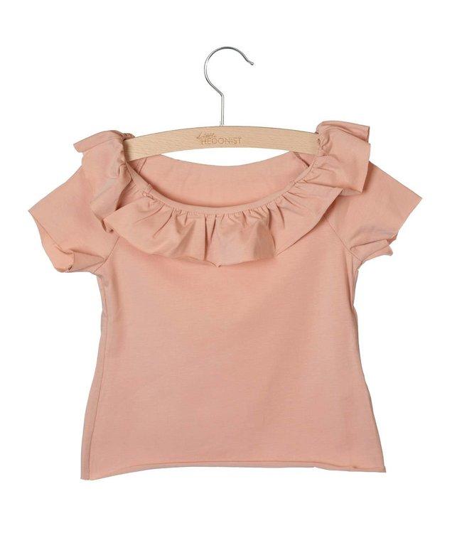 Little Hedonist Bella tshirt Cameo Rose