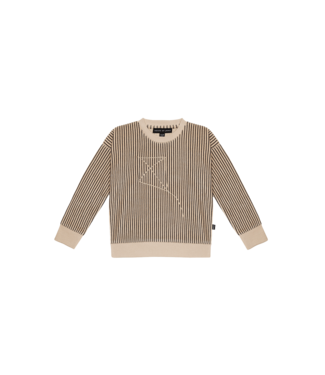 House of Jamie Crewneck sweater Charcoal stripes