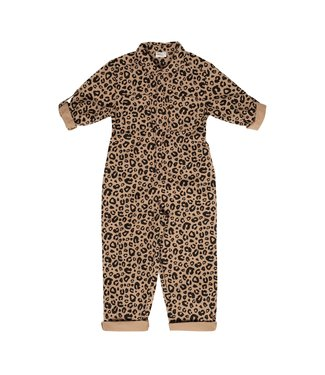Maed for mini Caramel leopard jumpsuit