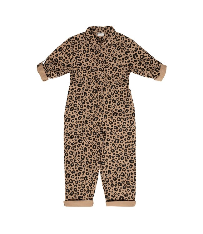 Maed for mini Caramel leopard jumpsuit