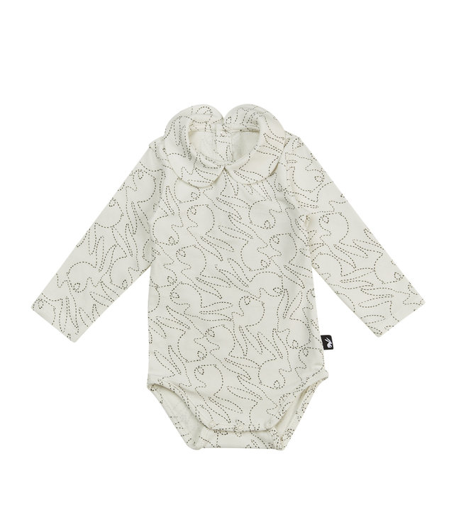 Mies & CO Collar bodysuit l/s Stitched Bunny