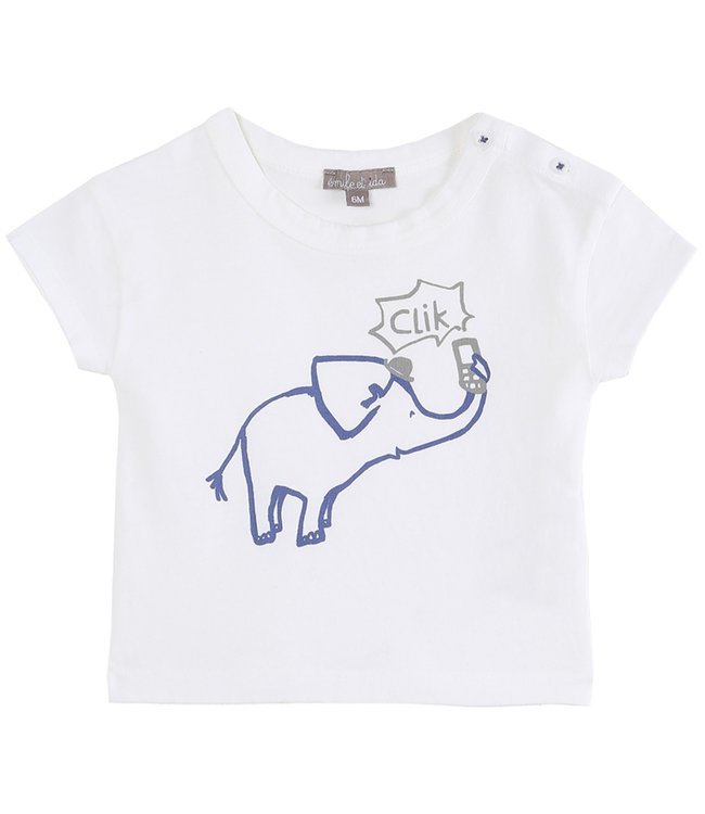 Emile et Ida T-shirt S003 Ecru