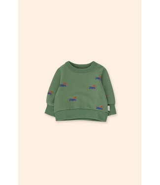 Tiny Cottons Doggy Paddle baby sweatshirt green/blue