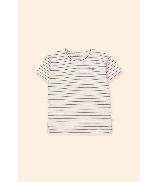 Tiny Cottons Tiny stripes tee light cream/blue