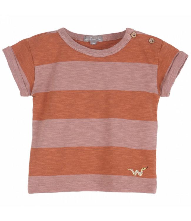 Emile et Ida T-shirt S137 Terre-orange