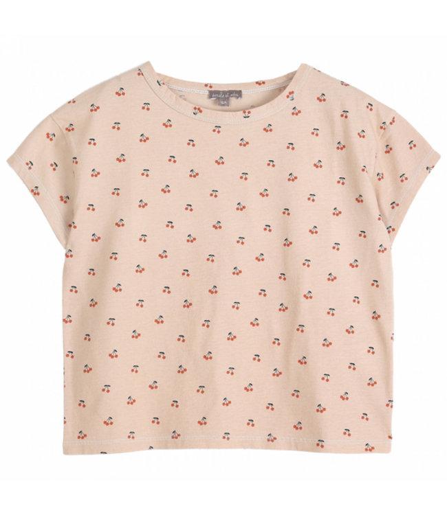 Emile et Ida T-shirt S074A Creme Cerises