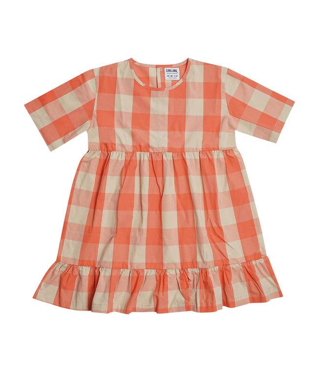 CarlijnQ Checkers dress pink