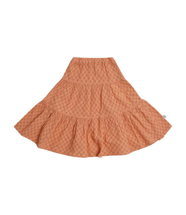 CarlijnQ Broderie Flared skirt