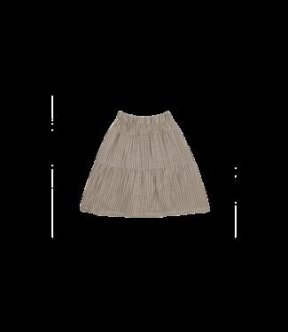 House of Jamie Midi skirt Charcoal stripes