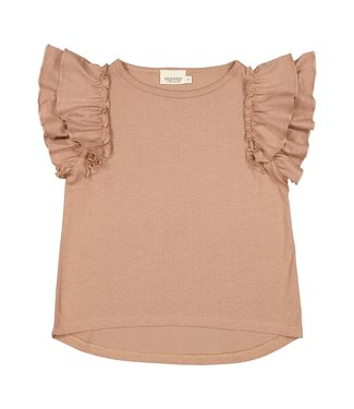 MarMar Copenhagen Tavora frill shirt Almond