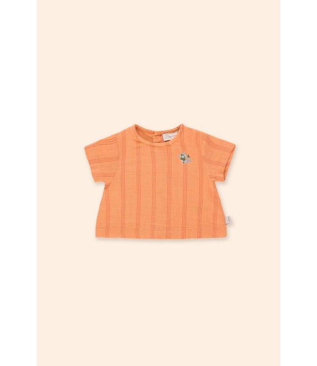 Tiny Cottons Tiny Flower baby shirt red/papaya