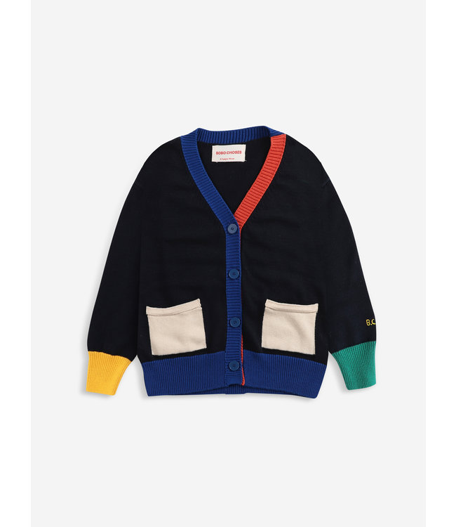 Bobo Choses Multicolor knitted cardigan
