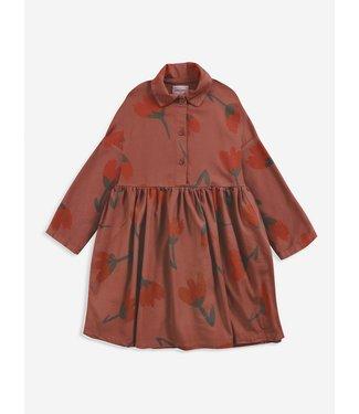 Bobo Choses Big flowers woven buttoned dress