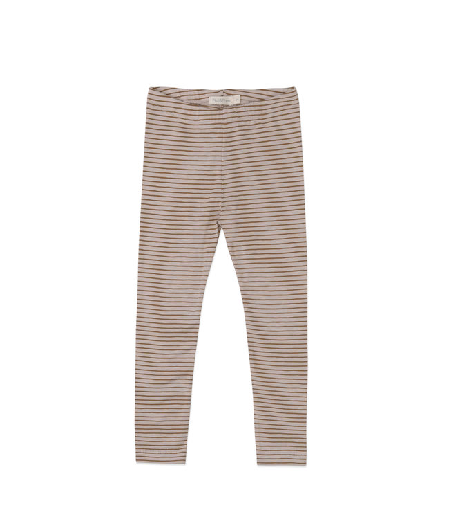 Phil&Phae Leggings stripes Chestnut