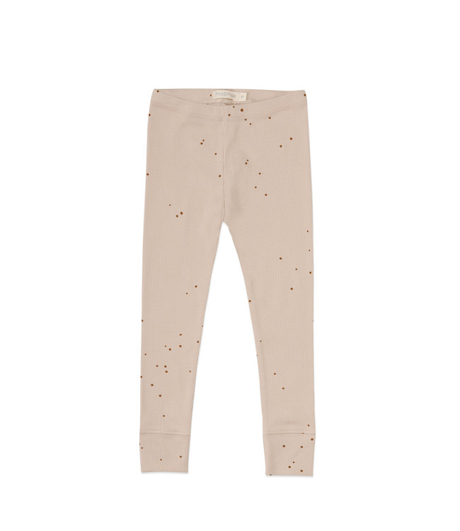Phil&Phae Rib leggings dots Cream white