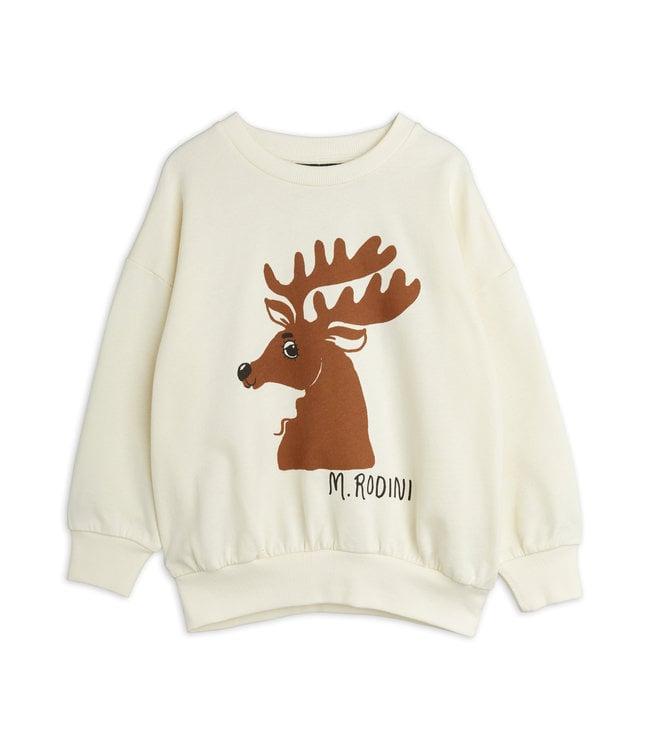 Mini Rodini Deer sweatshirt Offwhite