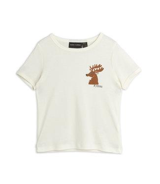Mini Rodini Deer ss tee Offwhite