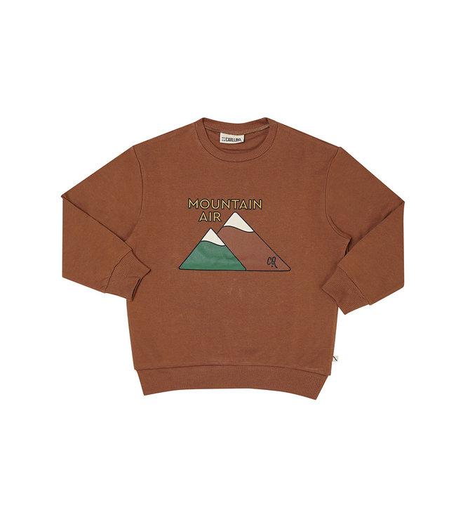 CarlijnQ Mountain air Brown sweater print