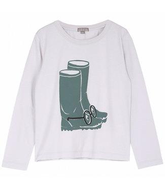 Emile et Ida Tee shirt Brume bottes