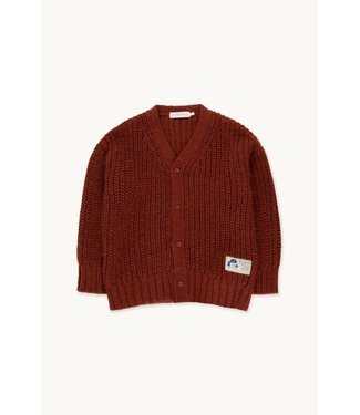 Tiny Cottons Solid cardigan Dark copper