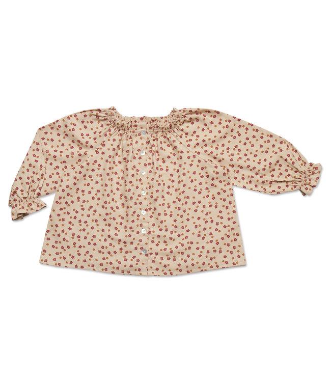Petit Blush Raglan blouse Mini Ditsy