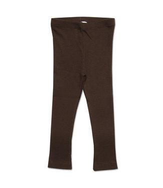 Petit Blush Rib legging Deep brown
