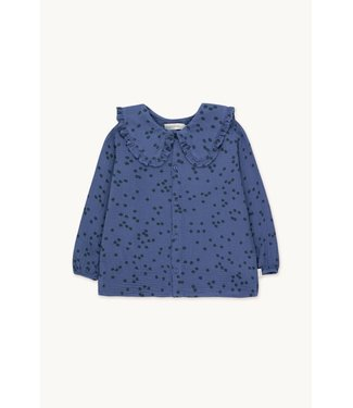 Tiny Cottons Daisies shirt soft blue/ink blue