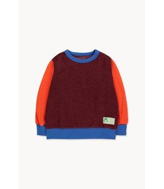 Tiny Cottons Color block sweatshirt blue/brown