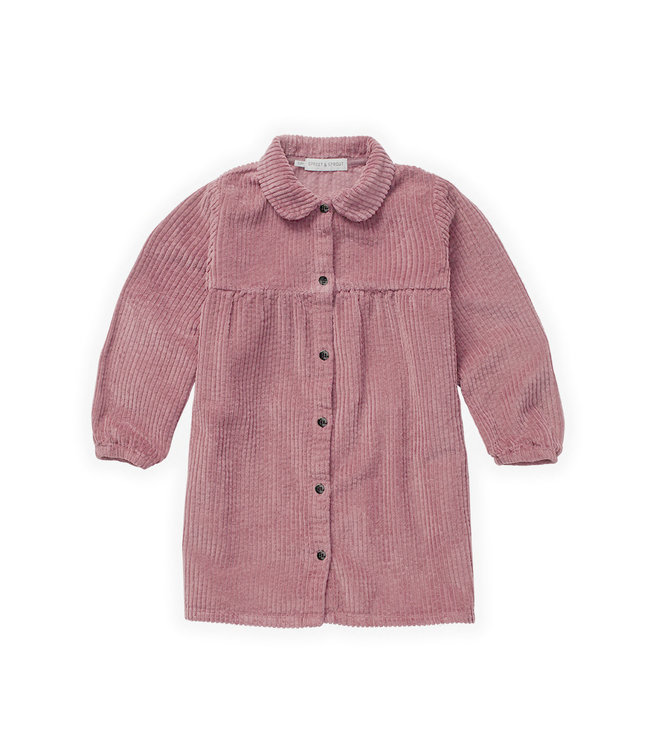 Sproet & Sprout Dress Corduroy Fig