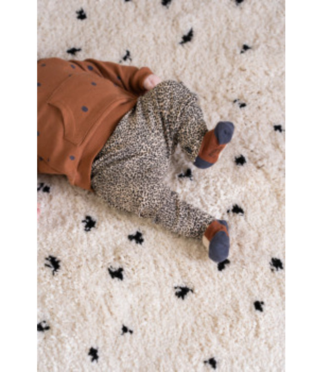 House of Jamie Rib legging Charcoal little leopard