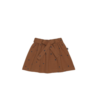 House of Jamie Mini Bow skirt Gingerbread dots