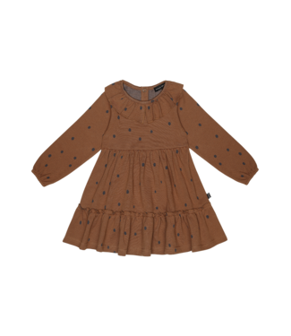House of Jamie Collar layer dress Gingerbread dots