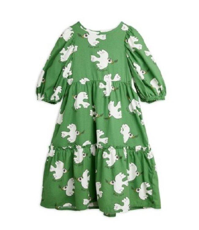 Mini Rodini Dove woven sleeve dress