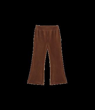 House of Jamie Flared pants Gingerbread rib velvet