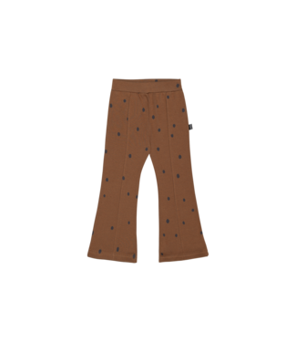 House of Jamie Flared pants Gingerbread dots