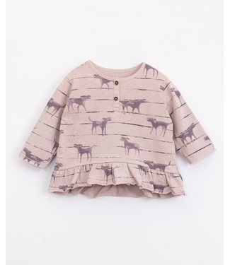 Play Up Play Up printed jersey shirt Lavender dogs