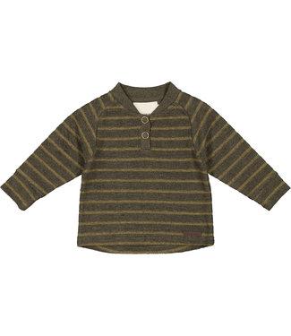 MarMar Copenhagen Teis Terry shirt Dark mustard stripe